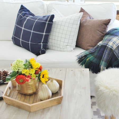 DIY Sharpie Pillow & Fall Family Room