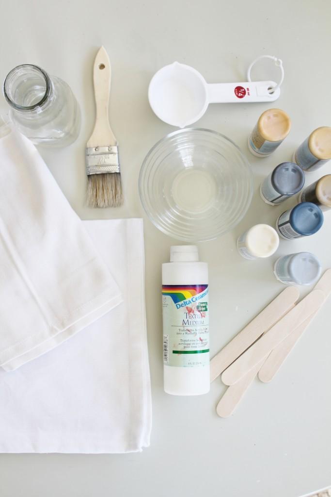 DIY Watercolor Napkins Supplies