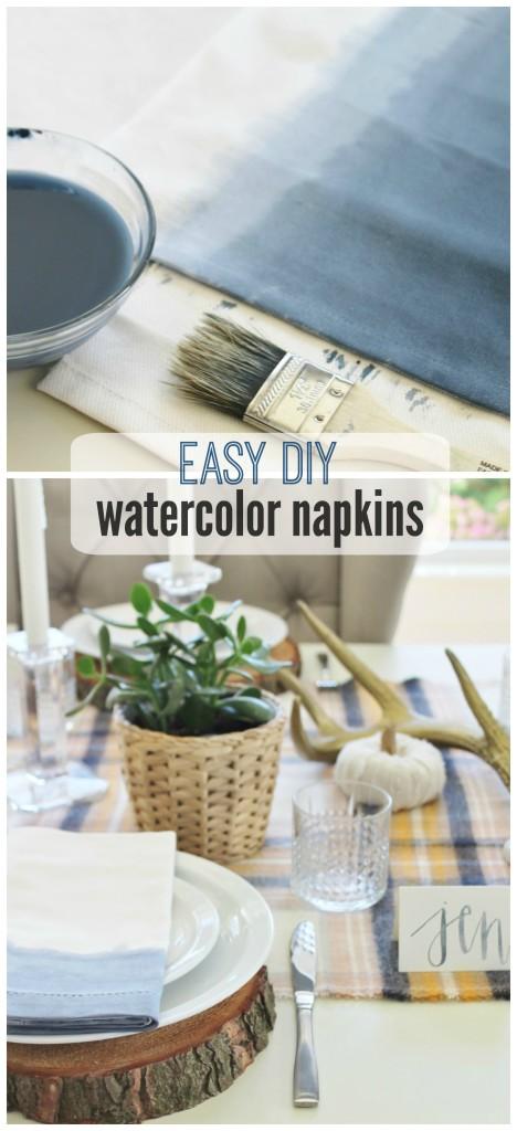 Easy DIY Watercolor Napkins