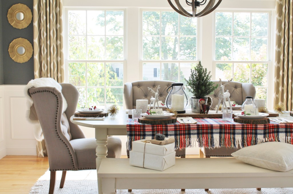 Woodland Inspired Christmas Dining Room With Lowes DIY Mirrors