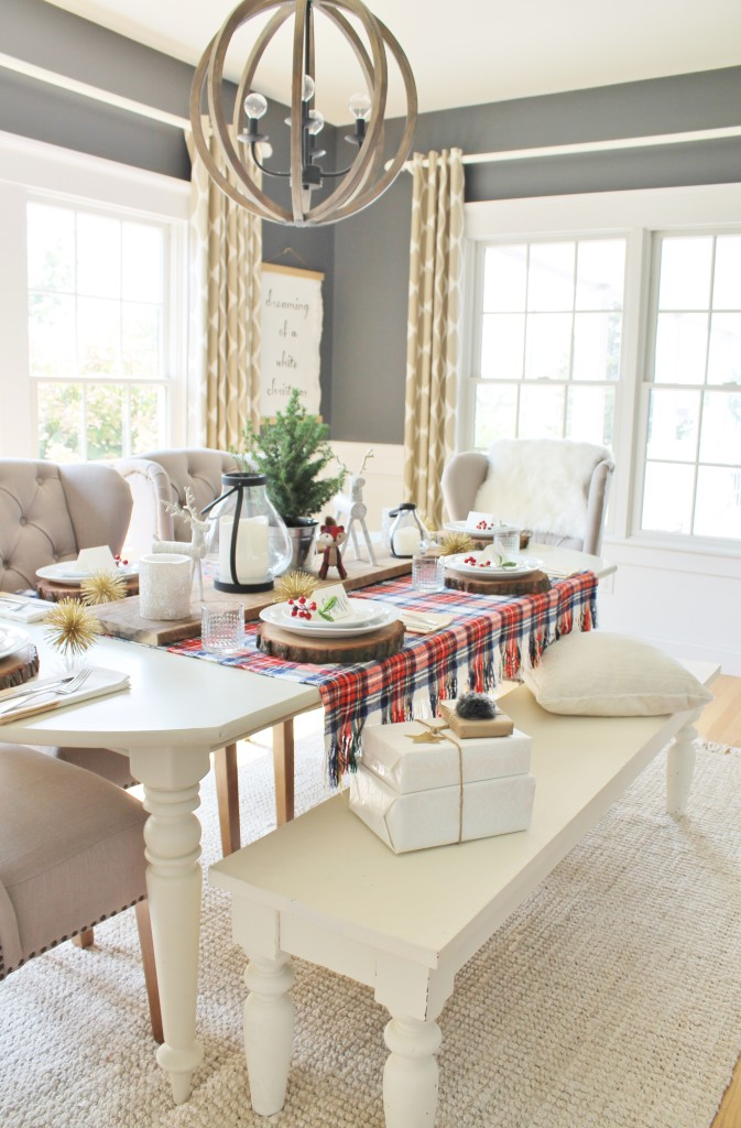 Woodland Inspired Christmas Dining Room With Lowe's & Rustic Details