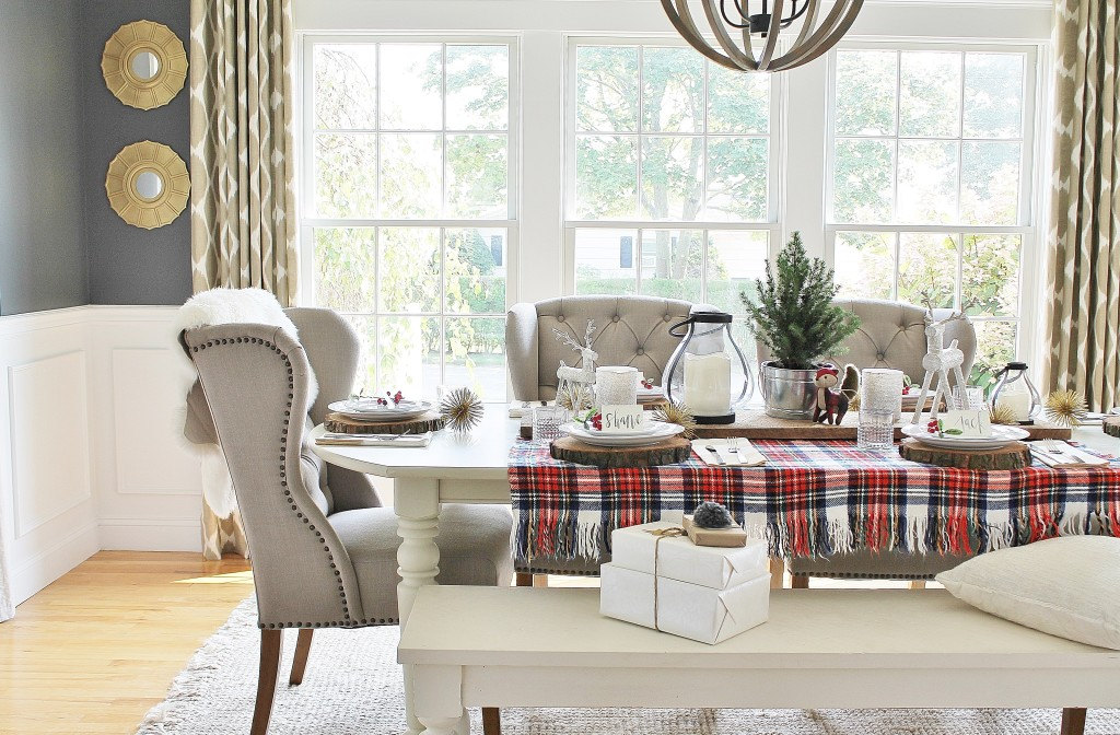 Woodland Inspired Christmas Dining Room With Lowe's & DIY Mirrors