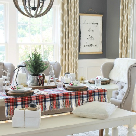 Holiday Dining Room With Lowe's