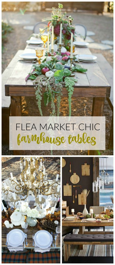 BHG Flea Market Chic-Farmhouse Tables
