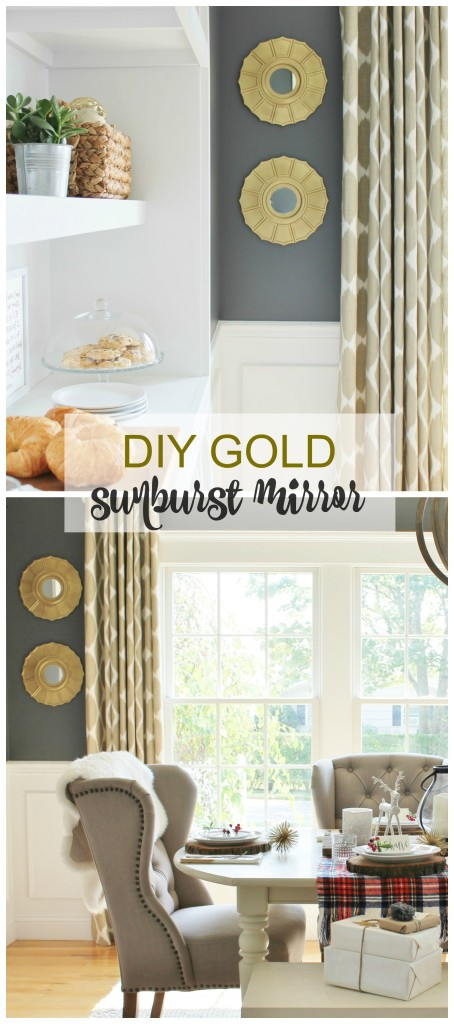 Easy DIY Gold Sunburst MIrror