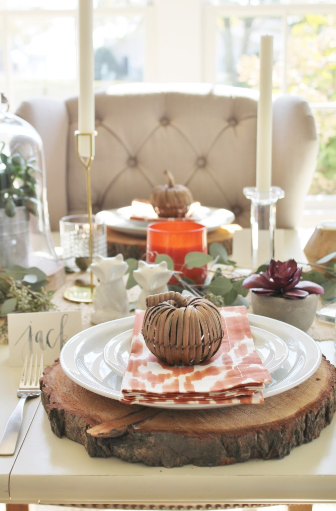 Rustic Chic Thanksgiving Tablescape Hop City Farmhouse