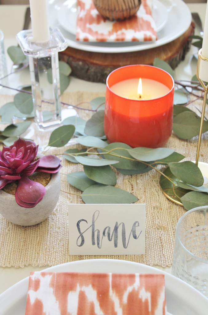 Rustic Chic Thanksgiving Tablescape Hop
