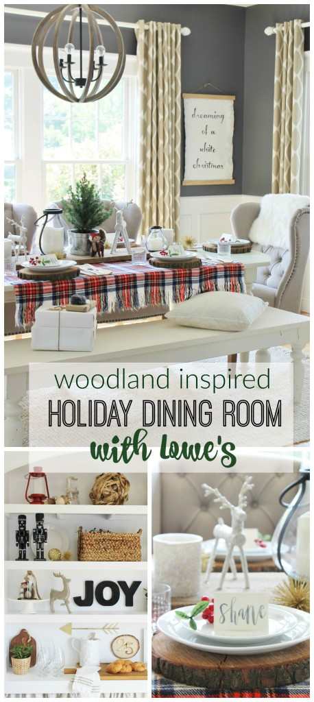 Woodland Inspired Holiday Dining Room With Lowe's
