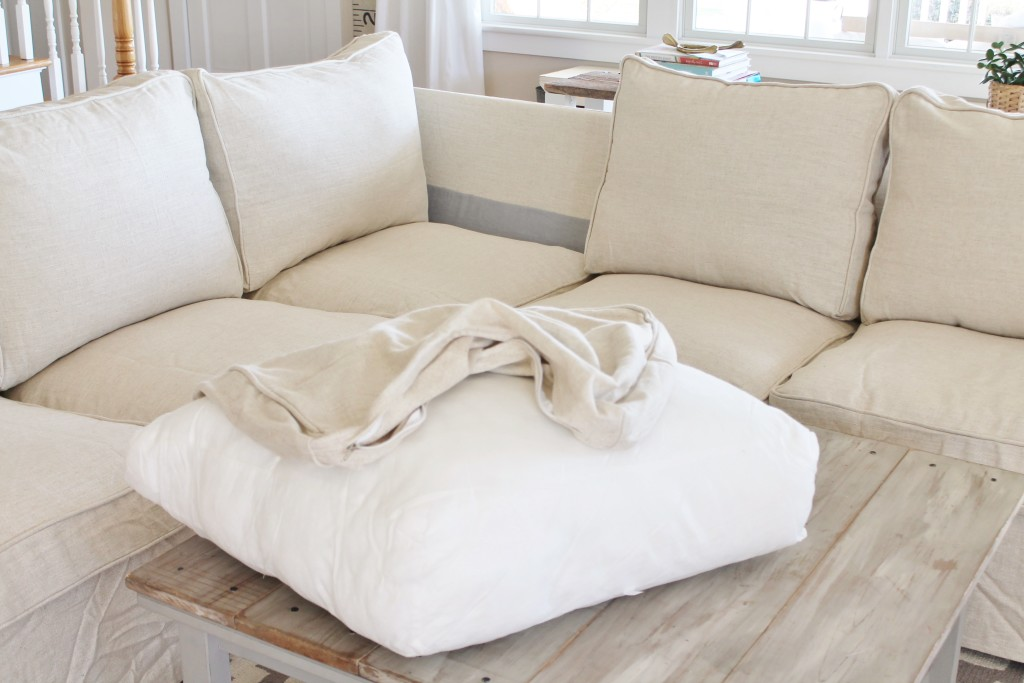New Comfort Works Linen Slipcover : slip cover for sectional - Sectionals, Sofas & Couches