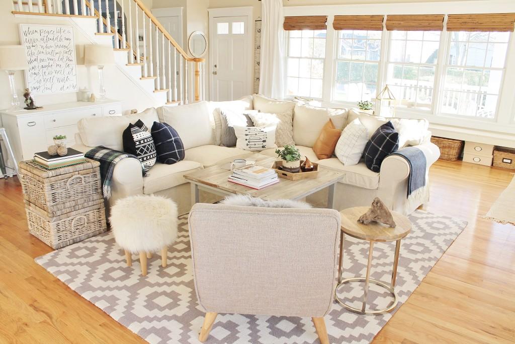 New Woven Shades + Family Room Mini Makeover