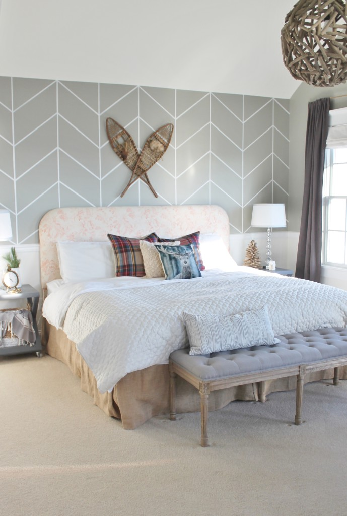 DIY Plaid Pillows-Christmas Bedroom from BHG Shoot