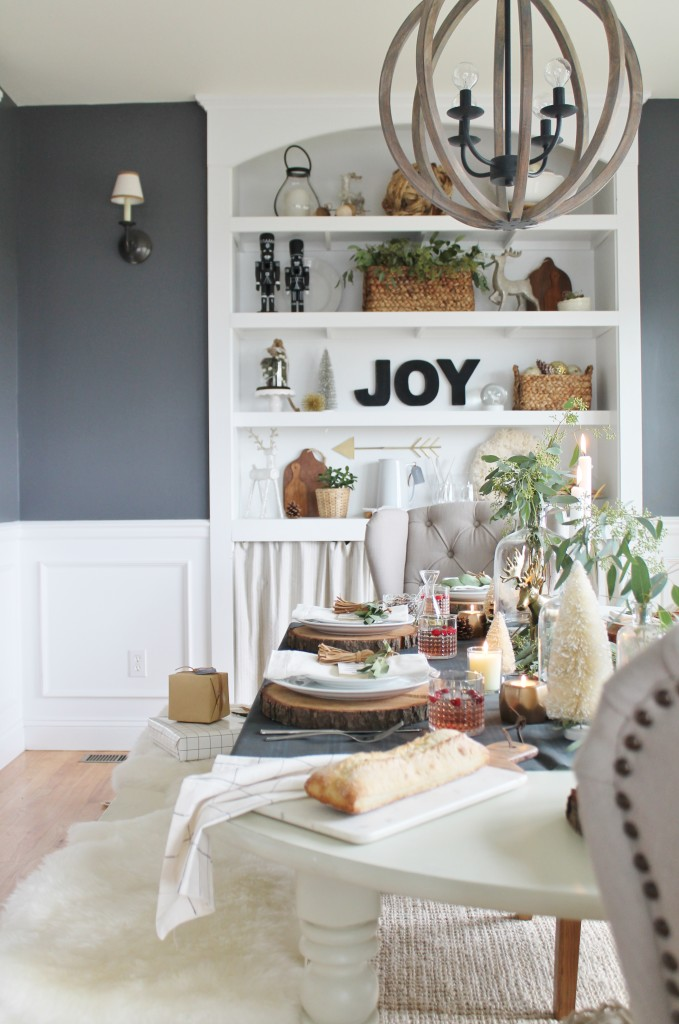 Holiday Dining Room & Built-ins [Benjamin Moore Stormy Sky]