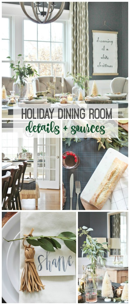 Holiday Dining Room Details + Sources