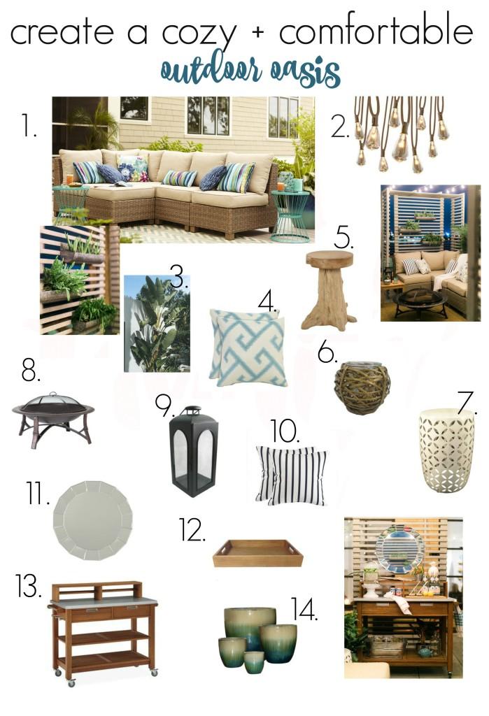 Create A Cozy + Comfortable Outdoor Oasis