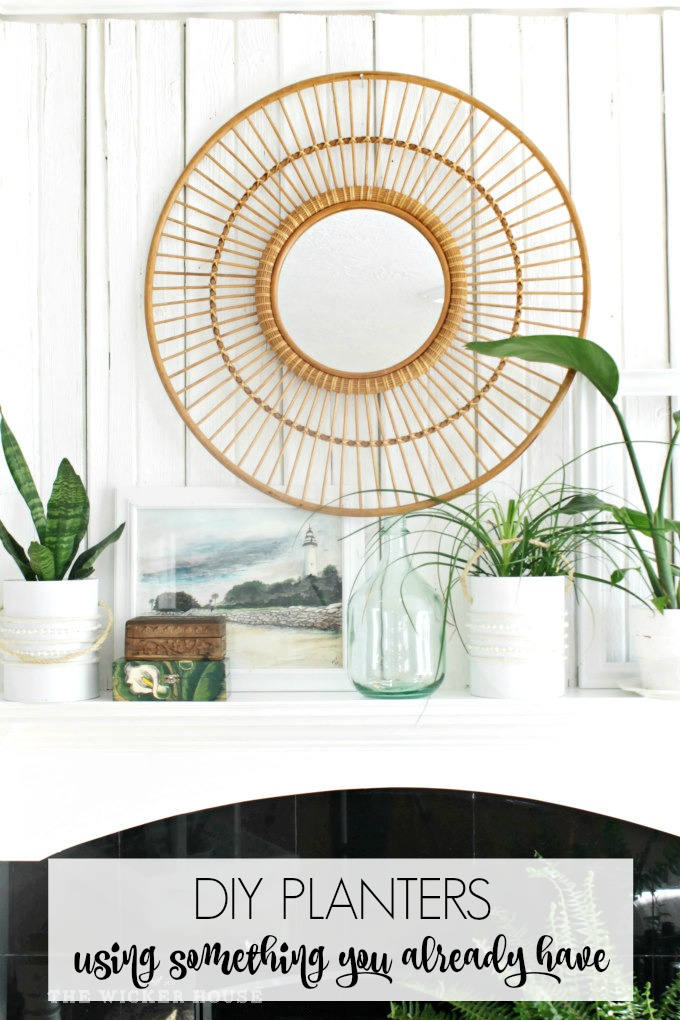 DIY Planters-using something you already have