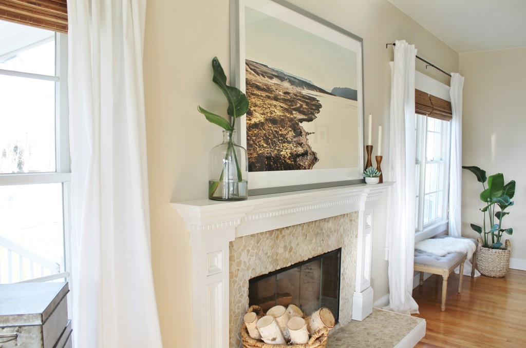 Minted Art {Wandering} + Easy Tips for Styling Your Mantle