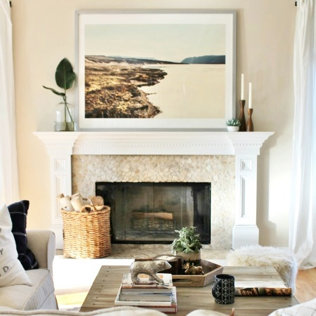 How To Style A Mantle-The Basics