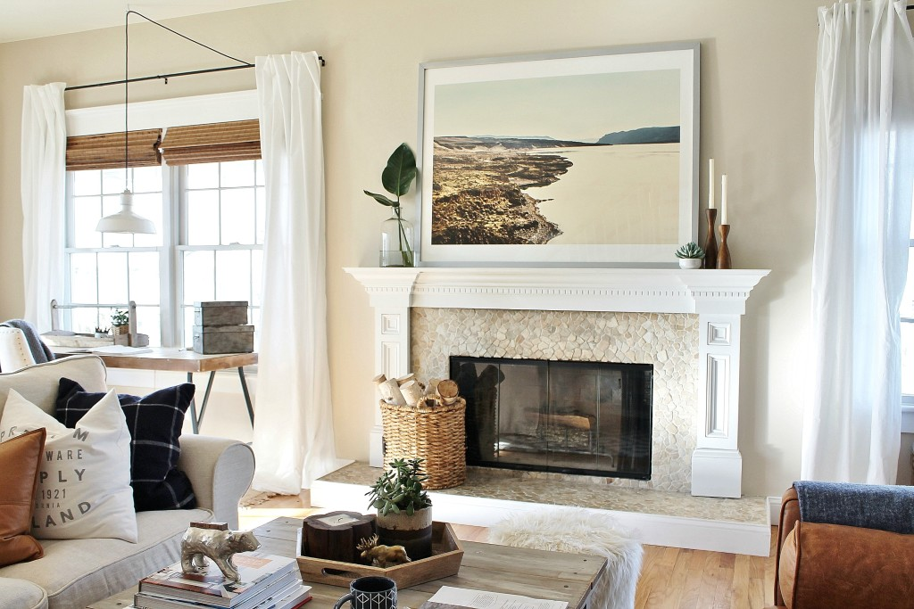 How to style a mantle- adding a focal point{Minted Art}