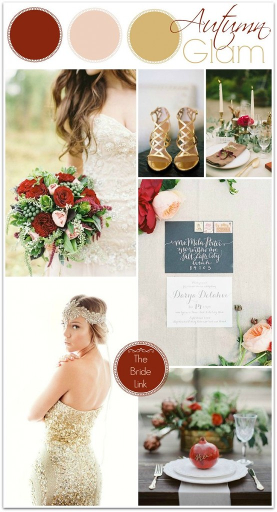 The Bride Link-Autumn Glam, Maroon, Champagne & Pinks
