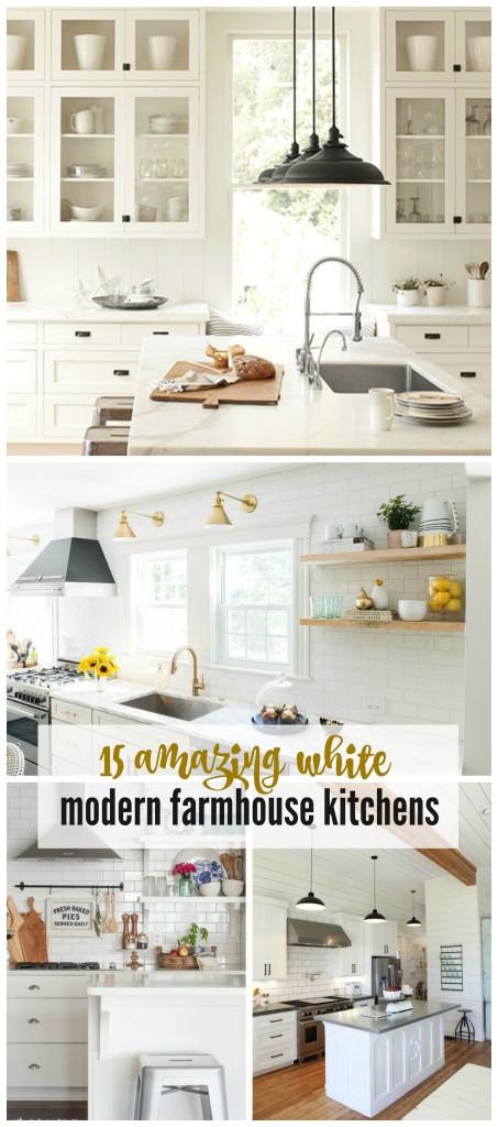 15 Amazing White Farmhouse Kitchens