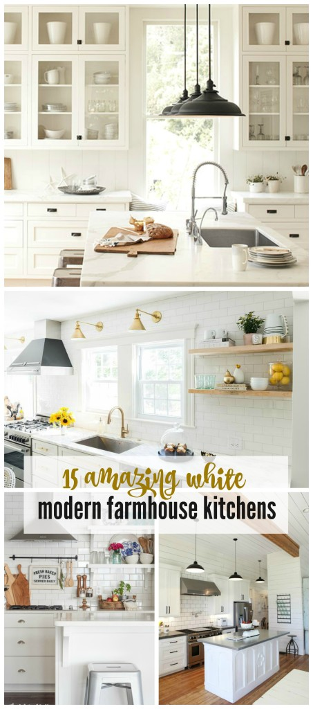 15 amazing white farmhouse kitchens - White Farmhouse Kitchen