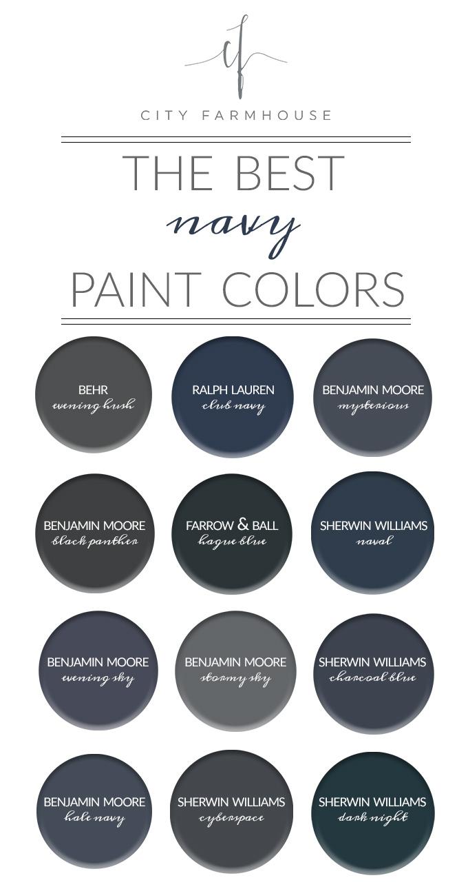 City Farmhouse The Best Navy Paint Colors