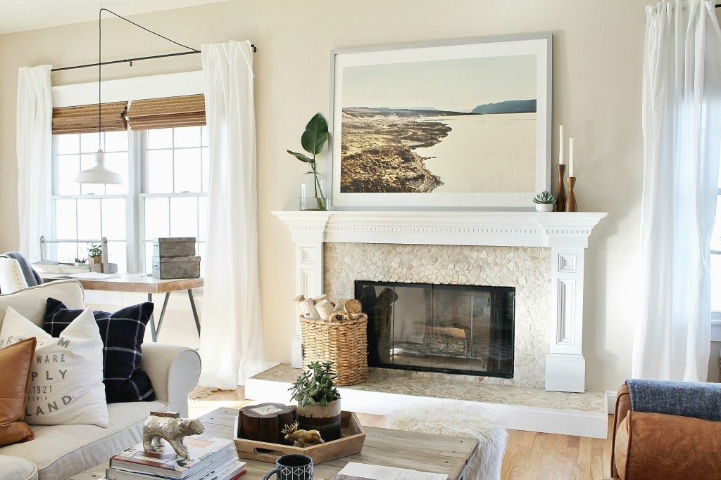 How to style a mantle adding a focal point{Minted Art}