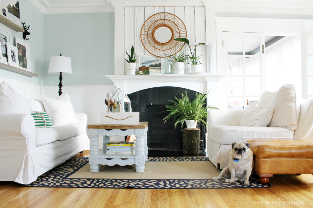 The wicker House Family Room