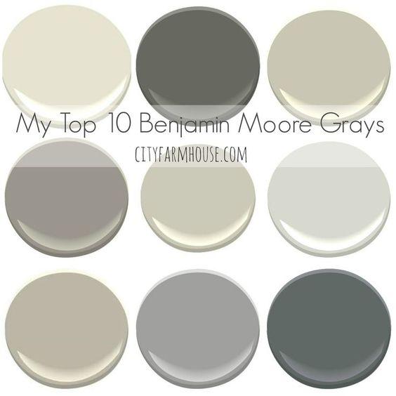 Top Benjmain Moore Grays