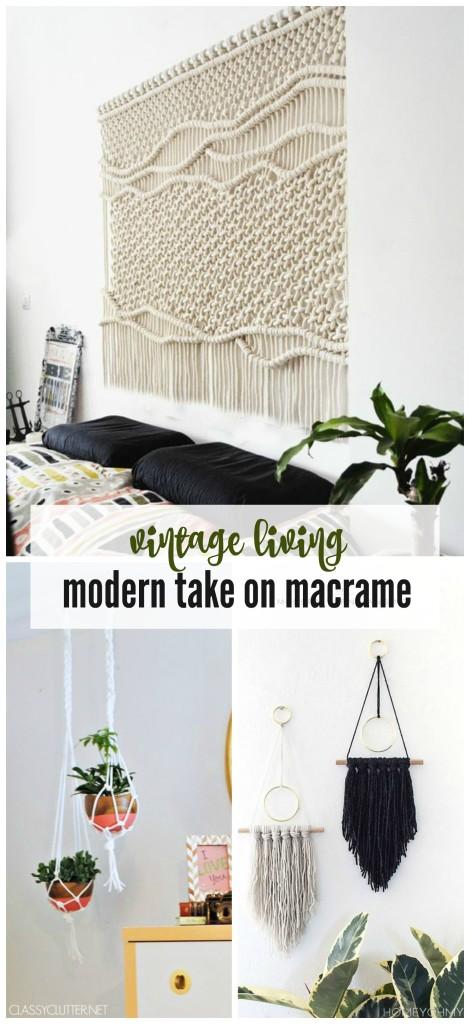 vintage living: modern take on macrame