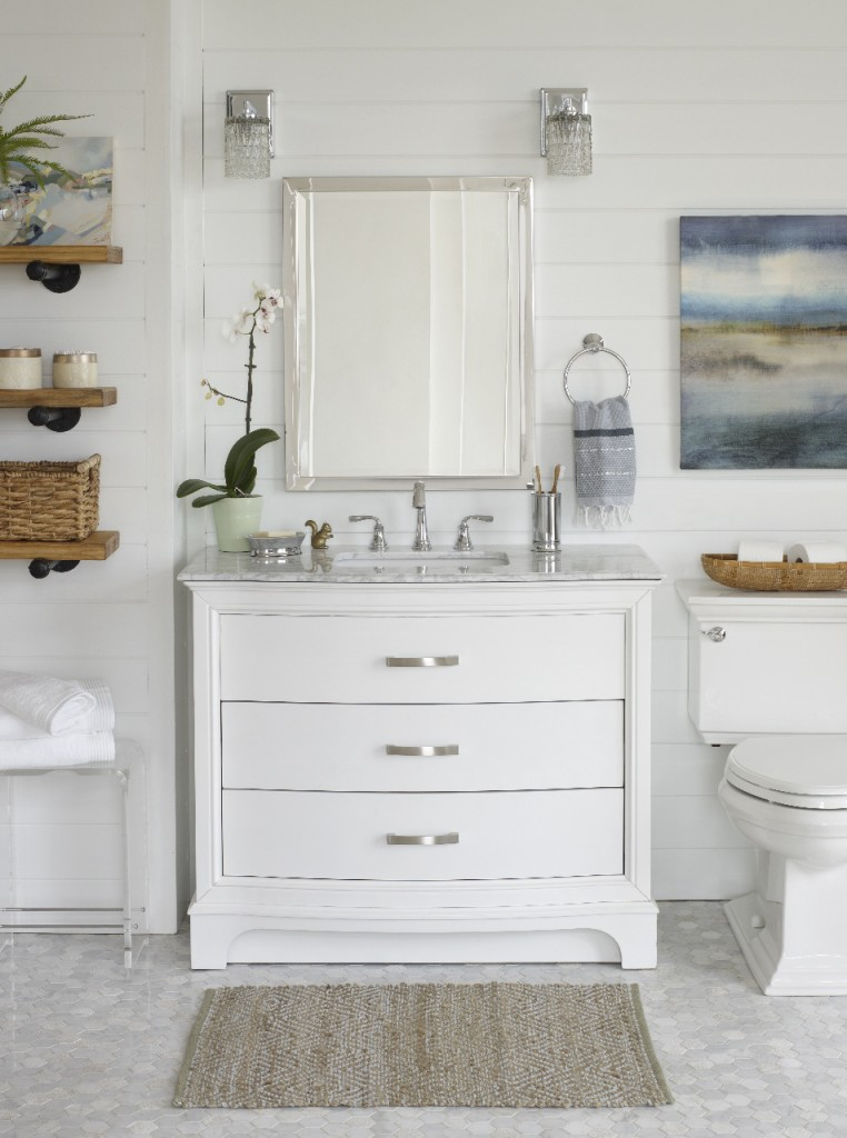 a white modern rustic bathroom reveal shop the look - Modern Rustic Bathroom