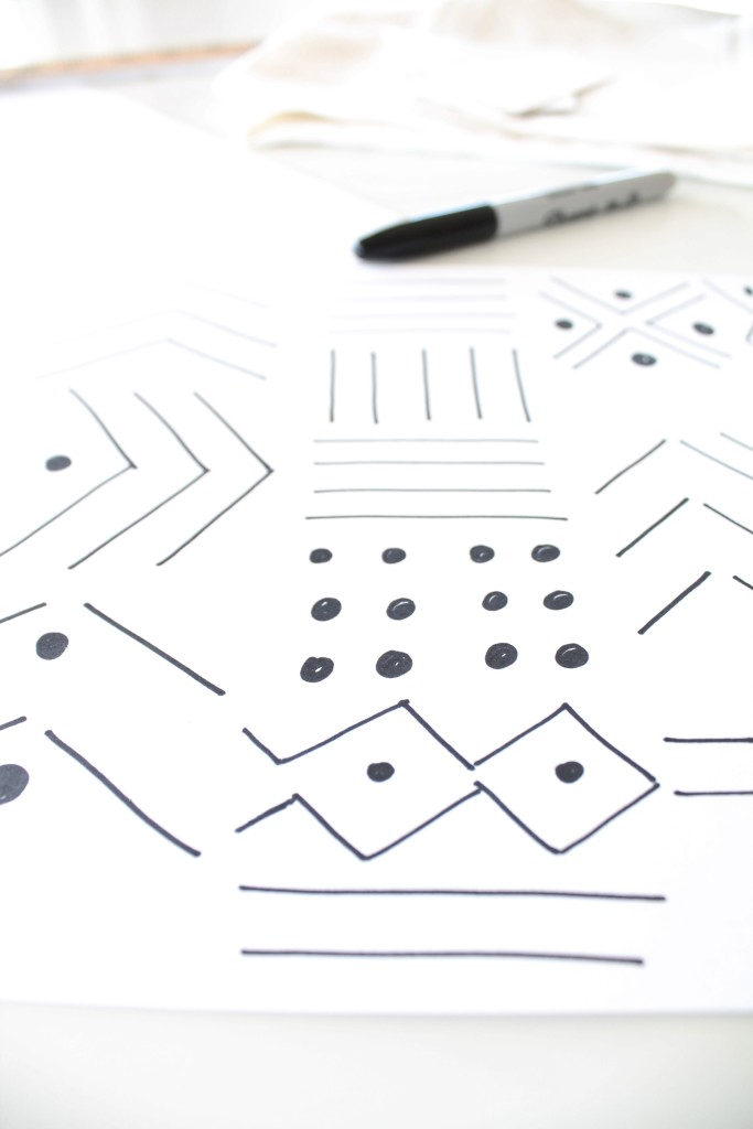 DIY Mudcloth Pilllows-The Design