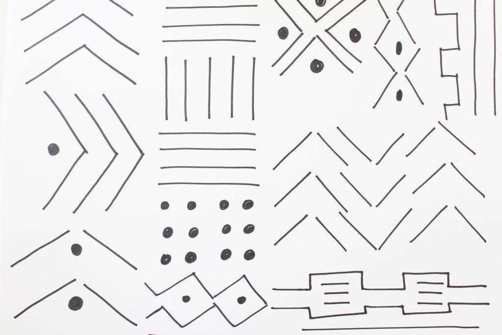DIY Mudcloth Pilllows -Doodling