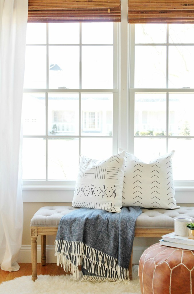 DIY Mudcloth Pillows & Indigo Blue-Great Color Combo for Summer