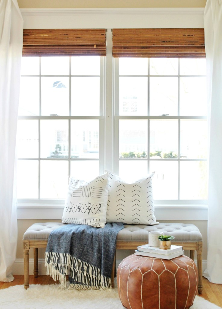 DIY Mudcloth Pillows -Using a Sharpie and $6 Pillow, Pair it With Indigo Blue