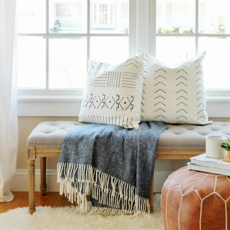 DIY Mudcloth Pillows Using A Paint Swatch