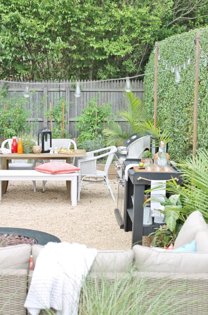 Hamptons Inspired Small Backyard Reveal - City Farmhouse