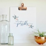 Free Inspirational Spring Printable + Hop