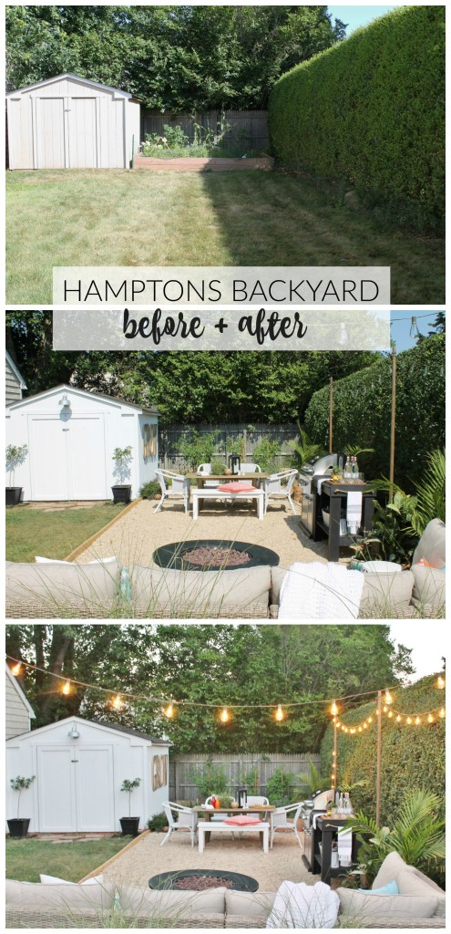 Hamptons Inspired Backyard Before + After