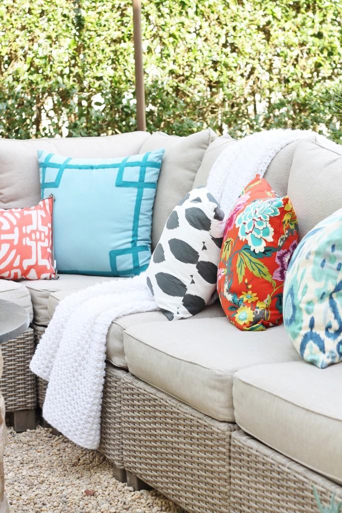 Hamptons Inspired Backyard Reveal-Cozy Rattan Outdoor Sectional
