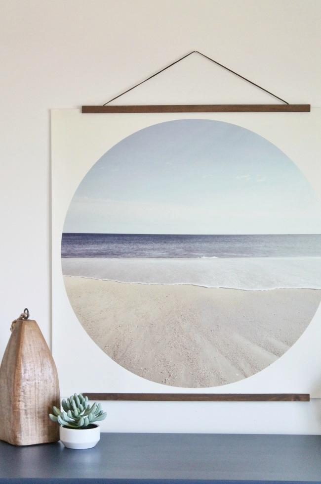 DIY Modern Coastal-easy tutorial to make this custom print + FREE Printable