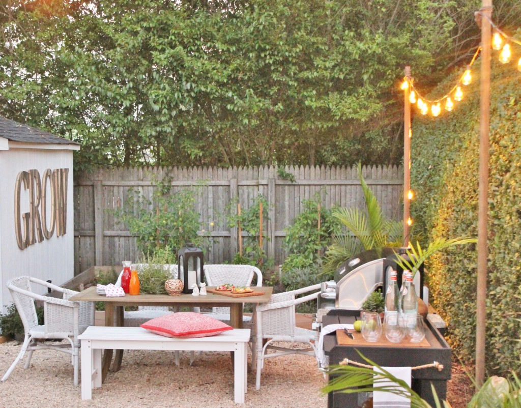 Outdoor String Lights + Dining Reveal