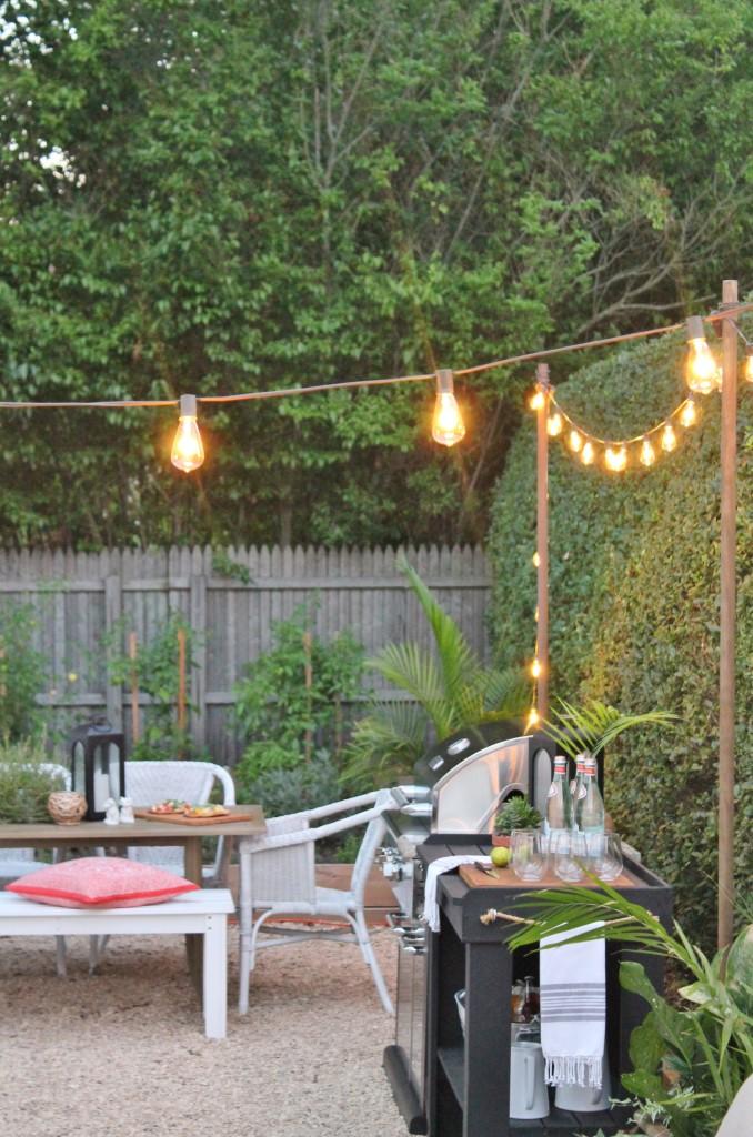 Outdoor String Lights + Summer Backyard