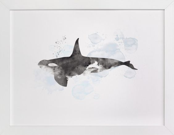 Minted Whale Art