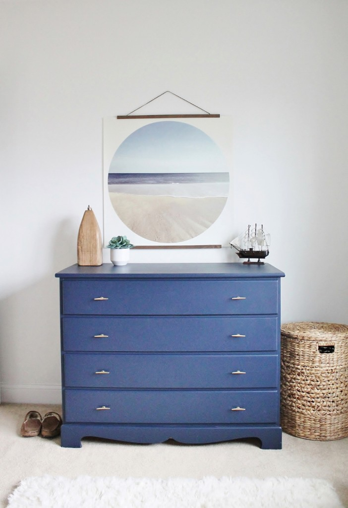 Painted Dresser Sherwin Williams Naval Blue, Anthropologie Hardware