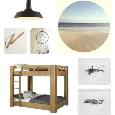 A Modern Coastal Boy's Room