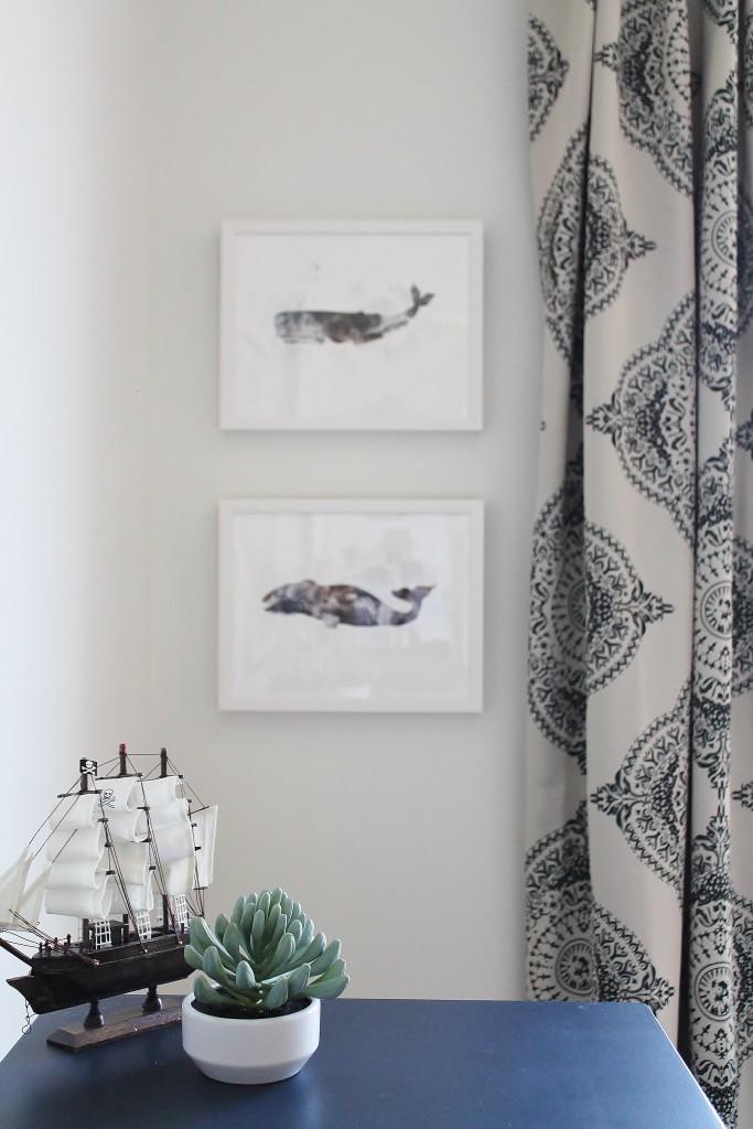 Jack Modern Coastal Room Art-Coastal Whale Art {Minted}