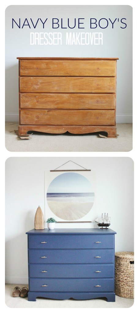 Navy Blue Dresser Makeover For Under 50 City Farmhouse