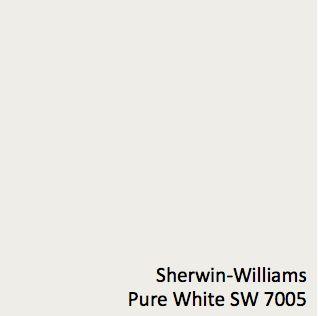 Pure White Sherwin Williams