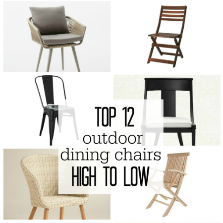 Top 12 Outdoor Dining Chairs-High to Low
